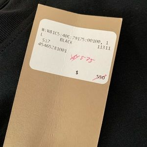 Authentic Burberry Tee with Lace Sleeves NWT